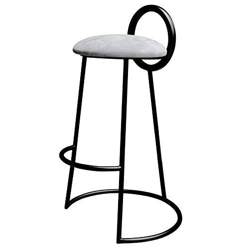 Eisenstange, Barstuhl, Nordic hoch, Tisch, Hocker, Tee, Café, Barstuhl, Stuhl, 46 x 46 x 65/75 cm, 01-15 65cm grau