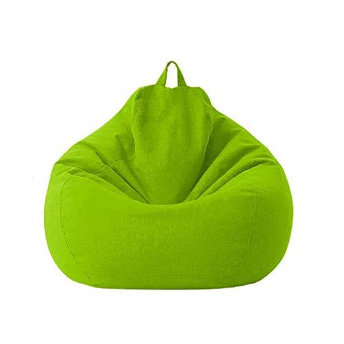 Posh Beanbags großer Sitzsack mit abnehmbarem Bezug für Kinder, Jugendliche und Erwachsene, Polyester-Stoff, für alle Altersgruppen, wasserdicht (grün, 100 x 120 cm)