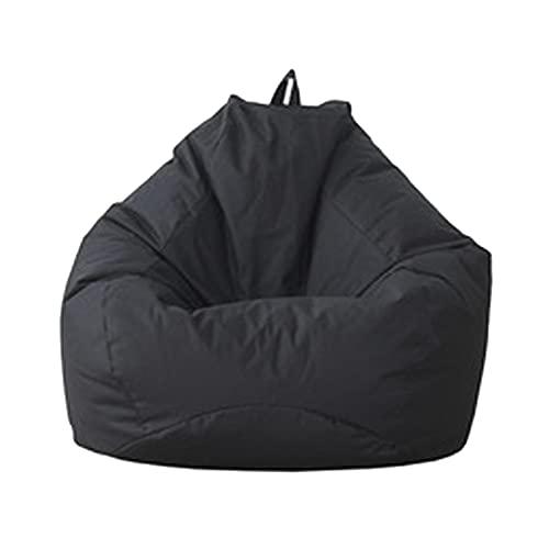 SJMG Spielzeug Aufbewharungstasche,Sitzsack Aufbewahrung,Sitzsack Hülle Bezug Ohne Füllung,extra Groß(130x140cm) Waschbar (Farbe : Schwarz, Größe : 70x80cm/27.6x31.5in)