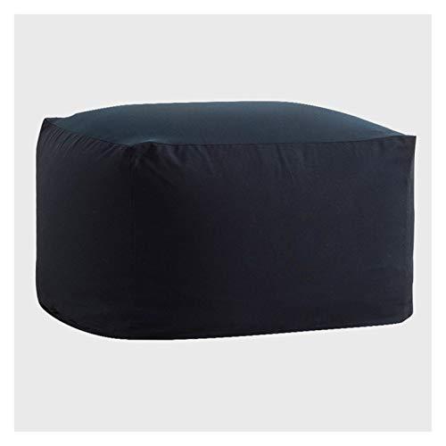RKRLJX Sitzsack Stuhl mit Microsuede Abdeckung Dunkelgrau, maschinenwaschbar Big Size Sofa und riesigen Lounger Möbel for Kinder, Jugendliche und Erwachsene (Color : Navy Blue, Size : 55x55x38cm)