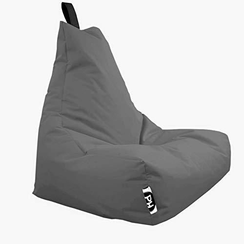 Patchhome Lounge Sessel XXL Gamer Sessel Sitzsack Sessel Sitzkissen In & Outdoor geeignet fertig befüllt   XXL - Anthrazit - in 2 Größen und 25 Farben