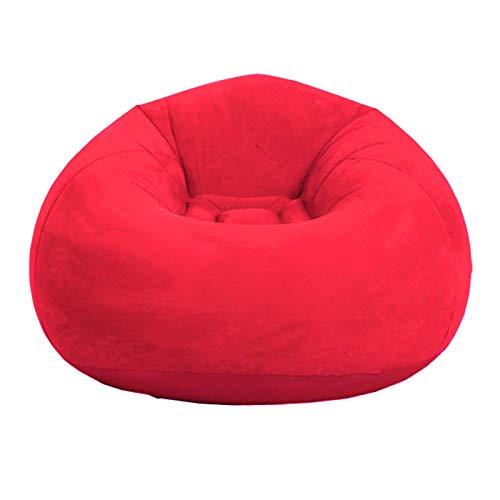 ZSooner Sitzsack für Wohnzimmer, Schlafzimmer, Heimdekoration, Outdoor, faltbar, waschbar, aufblasbar, für Sofa, Couch, Liege, sehr weich, bequem, Rot