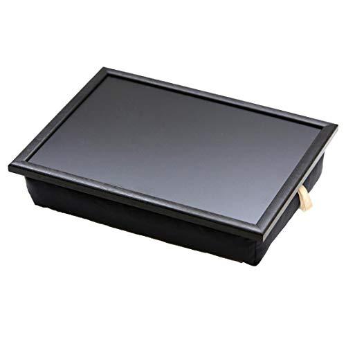 Andrew´s Knietablett Laptray mit Kissen Tablett für Laptop Schwarz Uni