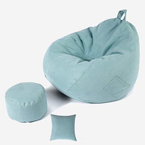 Wsaman Wassertropfen-Sessel, abnehmbar, transformierbar, riesiger Sitzsack, tragbar, weich gepolstert, mit EPS-Teilchenfüller, Griff für Erwachsene und Kinder, 11