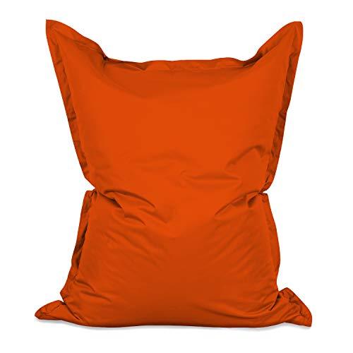 Lumaland Luxury Riesensitzsack XXL Sitzsack 380l Füllung 140 x 180 cm Indoor Outdoor Orange