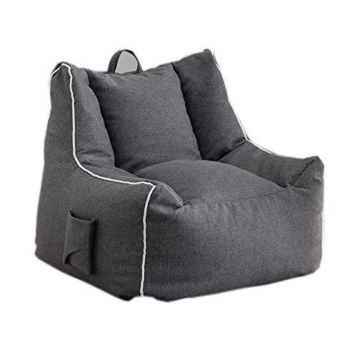 ZYLE Grauer Sitzsack Faules Sofa Einzelsofa aus Stoff Kreativer praktischer Stuhl for zu Hause Abnehmbares und waschbares Design (Size : L)
