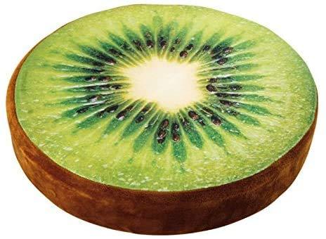 WEDSA Small Foot Sitzsack, Kiwi-Frucht, Stoff, mehrfarbig, 39 x 39 x 7 cm
