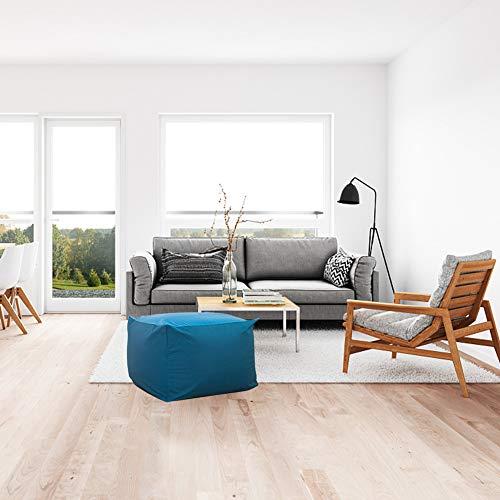 Yuoki99 Sofaüberwurf für Sitzsack/Liegestuhl, aus Baumwollgemisch, Dekoration für Zuhause, Wohnzimmer, quadratisch, japanischer Stil, ohne Füllstoff Tatami, Blau
