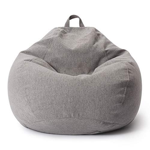 Lumaland Comfort Line XXL Sitzsack Indoor - 100x120x50 cm - extrem weich und robust - Bodenkissen, Bean Bag Chair - 315 L - EPS Perlen Füllung - ideal für Kinder und Erwachsene - Hellgrau