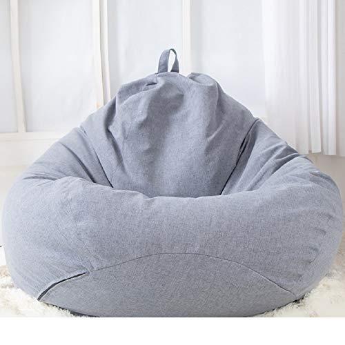 Enipate Klassischer Sitzsack-Sesselbezug ohne Füllung, Lazy Lounger Sitzsack Aufbewahrung Stuhlbezug mit Griff für Erwachsene und Kinder