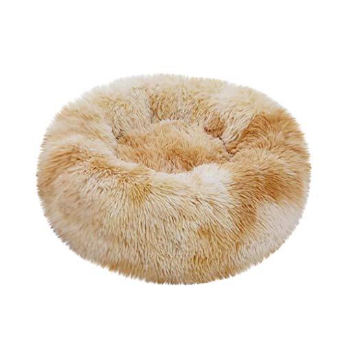 Cdoston Hundebett Tierbett Katzenbett Hundesofa Katzensofa Kissen Flauschig, Weich und. Waschbar für Katzen Hunde (XS, Gelb D)