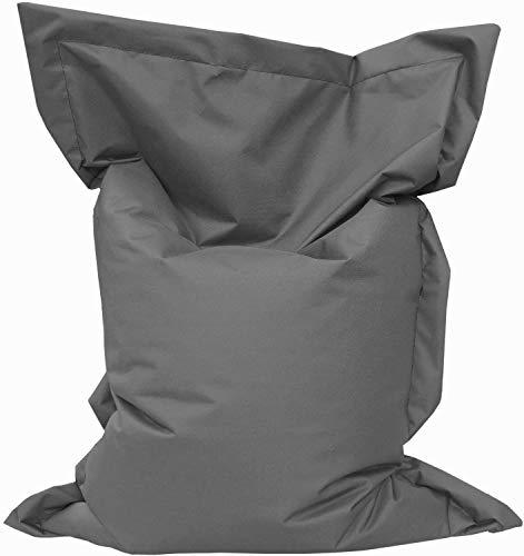 Giant Bag Sitzsack GiantBag Chill Out Liege & Sitzkissen Indoor & Outdoor Tobekissen Bodenkissen Sessel für Kinder & Erwachsene (160 x 120 cm, Anthrazit)