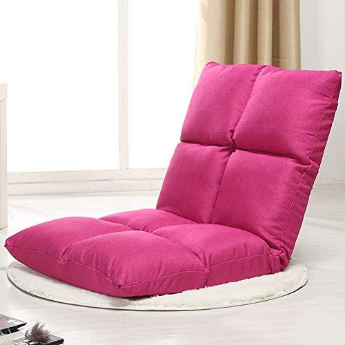 JDSFKX Faules Sofa Bodenstuhl Verstellbarer Gepolsterter Boden Spiel Sitzplätze Rückenlehne Liegefläche flach zusammenklappen zum Meditieren, Lesen, Videospielen, Für Erwachsene und Kinder