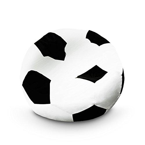 Lumaland Luxury Fußball Sitzsack hochwertiges Fussballsitzkissen aus der Comfortline klein original