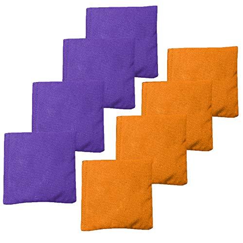 Play Platoon Premium wetterfeste Sitzsäcke für Maislöcher, 8 Stück, Größe und Gewicht, Orange/Violett