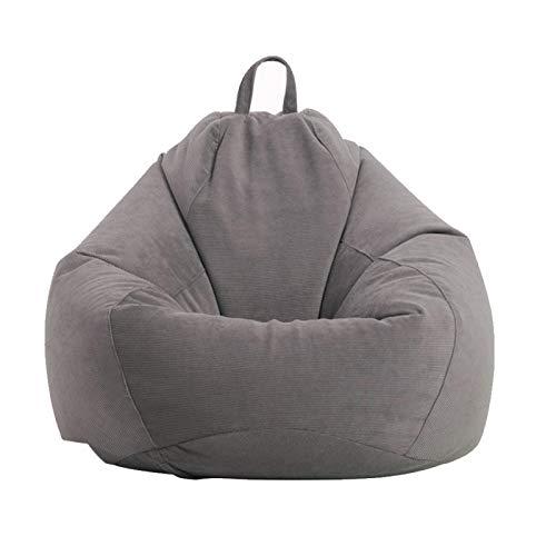 POHOVE Sitzsackbezug / Sofabezug ohne Füllstoff Lazy Lounger Hohe Rückenlehne Sitzsack Stuhl für Erwachsene und Kinder Weiche Kordel Waschbar Möbel Sitzsack (nur Bezug, kein Füller)