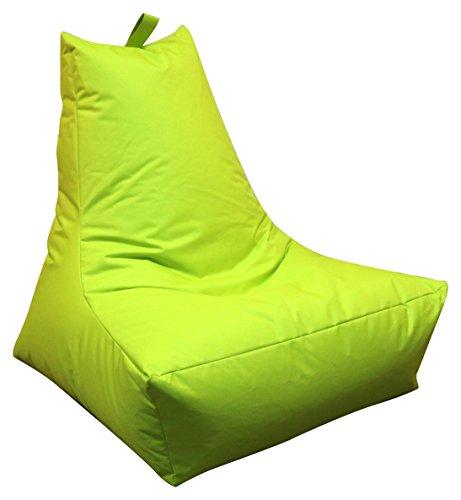 Mesana XXL Lounge-Sessel, ca. 100x90x80 cm, Sitzsack für Outdoor & Indoor, wasserabweisend, viele verschiedene Farben, apfelgrün