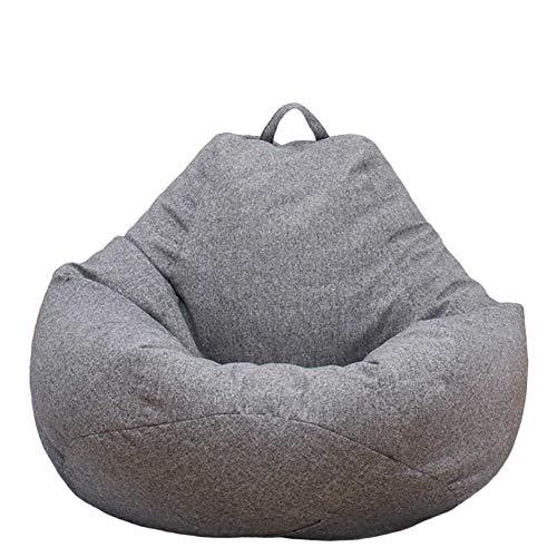 Große Sitzsackhülle,Gesundheit Material faul Sofa Sitzsackhülle Kleines Sofa Bbequemes Premium Sitzsackhülle aus Leinen für Kinder Jugendliche und Erwachsene,keine innere Skelettfüllung