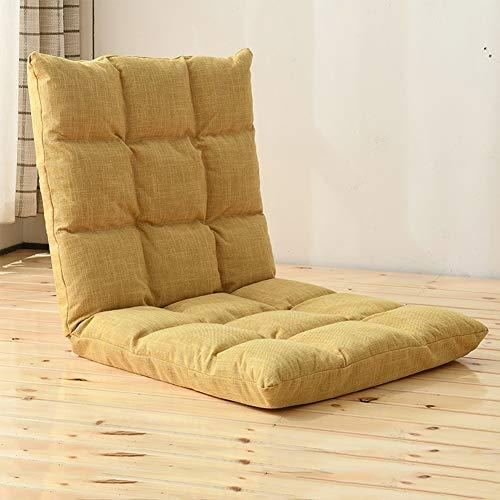 JDSFKX Bodenstuhl Verstellbarer Klappstuhl Mit Rückenlehne Meditationstuhl, Lesestuhl Bodenkissen Fensterstuhl Faules Sofa Boden Sessel, Für Erwachsene und Kinder