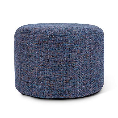 icon Sitzsack, rund, blau, groß, Ottomanenhocker, Wohnzimmer-Fußhocker