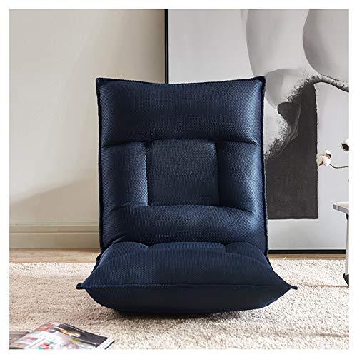 Luyiyi Thick Mesh Tatami Sitzsack weich und komfortabel faul Sofa blau einzelne kleine Sofa Schlafzimmer Erker Klappstuhl 55 × 115 cm